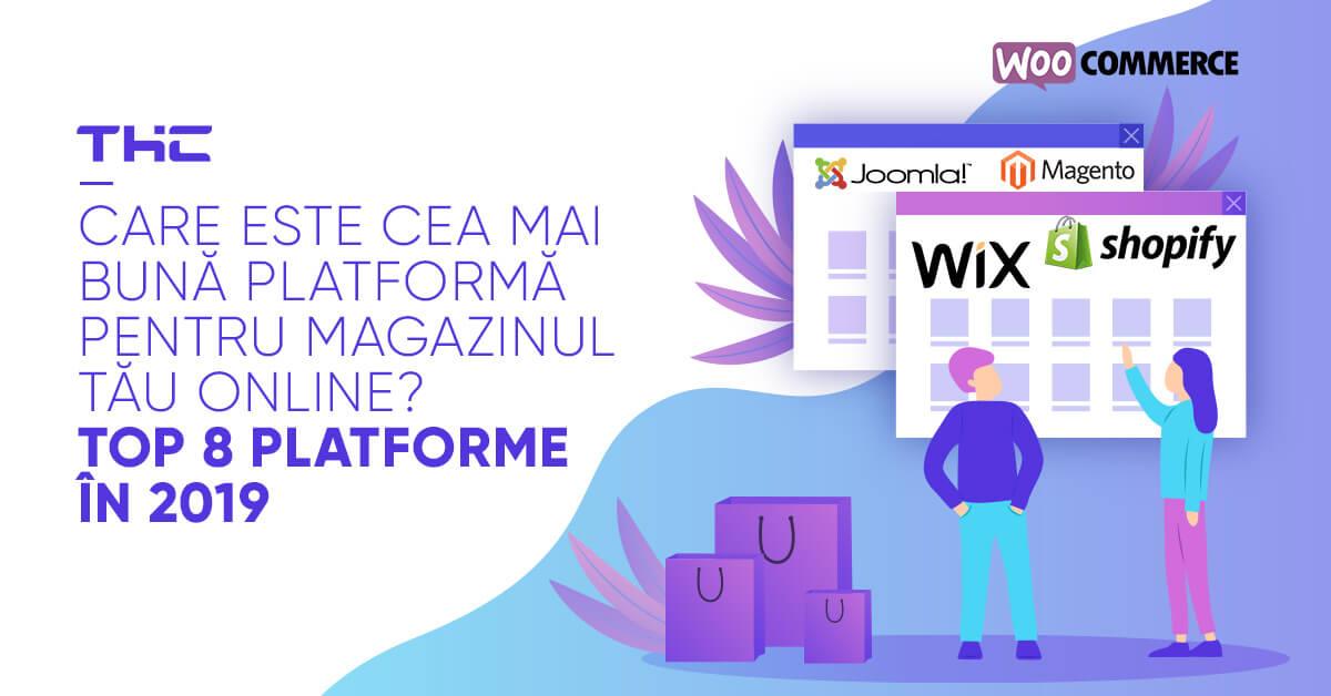 Descoperă topul principalelor platforme de eCommerce din 2019 şi află cum să alegi cea mai bună platformă pentru magazinul tău online.