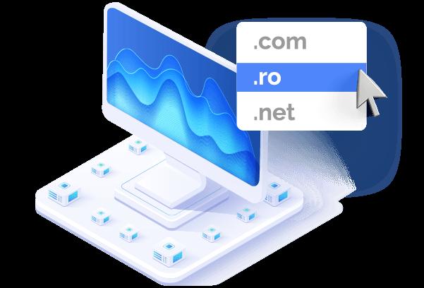 Inregistrare domenii Domeniul perfect se afla la un click distanta.